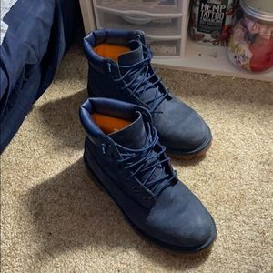 Real Navy Blue Timberlands
